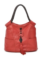 Carla Mancini Front Ring And Tassel Tall Leather Tote Red