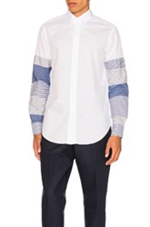 Loewe Patchwork Sleeve Shirt In White