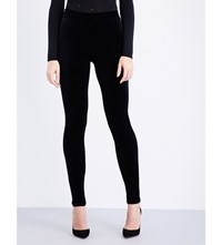 Wolford Elasticated Velvet Leggings Black