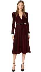 Philosophy Di Lorenzo Serafini Long Sleeve Dress Burgundy