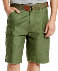 Levi's Men's Fort Relaxed Fit Meadow Moss Cargo Shorts