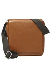 Men's Skagen 'Gade' Leather City Bag Brown Saddle