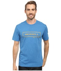 Merrell M Stamped Tee Snorkel Blue Men's T Shirt