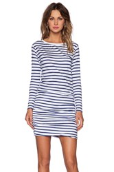 Sundry Boat Neck Long Sleeve Dress Navy