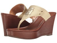 Tommy Hilfiger Madison Gold Gold Women's Wedge Shoes