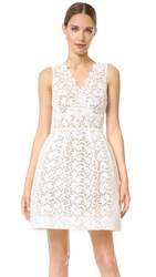 Monique Lhuillier Mavis Dress Silk White Nude