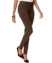 Inc International Concepts Skinny Fit Ponte Pants Coffee Bean