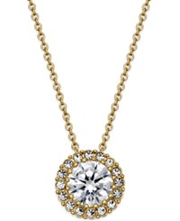 Eliot Danori Gold Tone Framed Crystal Pendant Necklace Only At Macy's