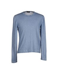 Allegri Knitwear Jumpers Men Slate Blue
