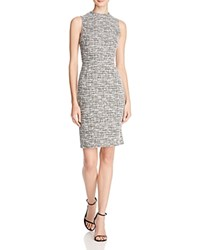 Aqua Tweed Sheath Dress Mutli