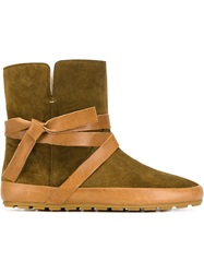 Isabel Marant 'Nygel' Ankle Boots Nude And Neutrals