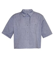 Alexander Wang Cropped Cotton Oxford Shirt