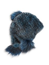 Jocelyn Dyed Mink Fur Cap Teal