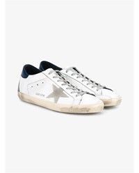 Golden Goose Superstar Leather Sneakers White Navy Beige Grey Navy Blue Golden Black