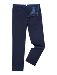 Richard James Slim Fit Casual Chino Navy