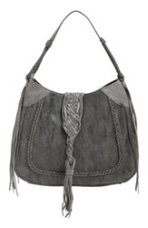 Sole Society 'Vail' Braided Trim Faux Suede Shoulder Bag