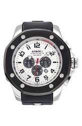 Kyboe Men's 'Port' Chronograph Silicone Strap Watch 55Mm