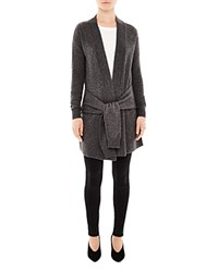 Sandro Edith Tie Sleeve Cardigan Charcoal Gray