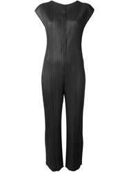 Pleats Please By Issey Miyake Pleated Jumpsuit Grey
