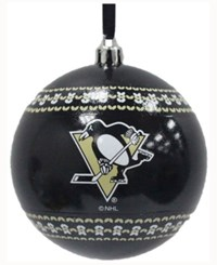 Memory Company Pittsburgh Penguins Ugly Sweater Ball Ornament Black