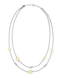 Freida Rothman Belargo Open Clover Cz Station Necklace