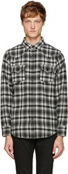 Saint Laurent Black And White Plaid Shirt