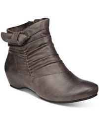 Bare Traps Sakari Hidden Wedge Booties Women's Shoes Dark Grey