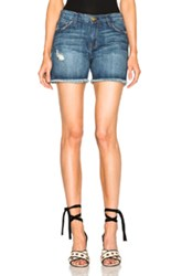 Current Elliott Vintage Straight Cut Off Shorts In Blue