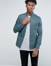 Pull And Bear Pullandbear Oxford Shirt In Green In Regular Fit Green