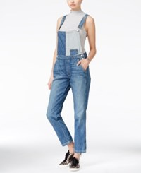 Guess Originals Reworked Two Tone Dungarees Denim