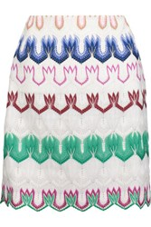 Missoni Crochet Knit Mini Skirt Multi