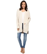 Tommy Bahama Cascade Open Cardigan Oatmeal Heather Women's Sweater Beige