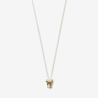 Aesa Muse Charm Necklace Pearl Silver Bronze