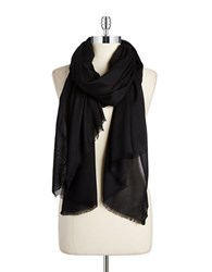 Lord And Taylor Solid Pashmina Scarf Black