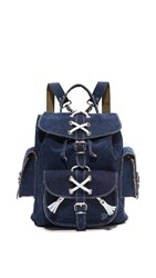 Grafea Laced Backpack Denim White