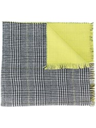 Twin Set Houndstooth Pattern Scarf Black
