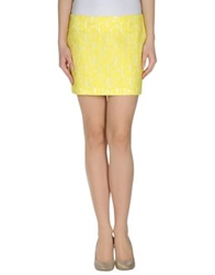 American Retro Mini Skirts Yellow
