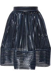 Maje James Coated Mesh Skirt Blue