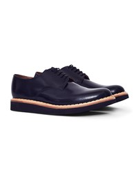 Grenson Curt Wedge Sole Brogue Black