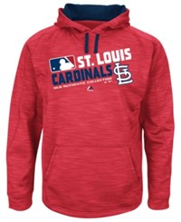 Majestic Men's St. Louis Cardinals Authentic Collection Hoodie Red