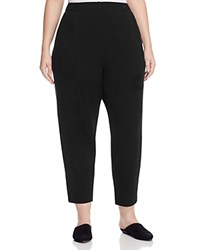 Eileen Fisher Plus Tapered Ankle Sweatpants Black