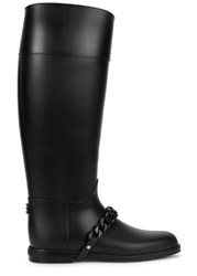 Givenchy Black Chain Embellished Wellington Boots