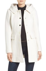 Guess Petite Women's 'Mod' Hooded Jacket Ivory