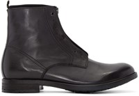 Diesel Black Leather D Dokey Neo Boots