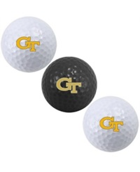 Team Golf Georgia Tech Yellow Jackets 3 Pack Golf Ball Set Team Color
