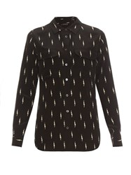 Equipment X Kate Moss Slim Signature Silk Blouse Black
