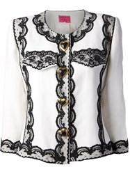 Christian Lacroix Vintage Lace Trim Jacket White