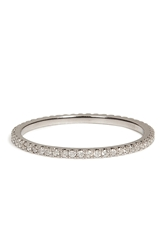 Carolina Bucci 18K White Gold Pave Stacking Ring With Diamonds