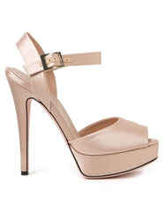 Giambattista Valli Open Toe Pumps Nude And Neutrals