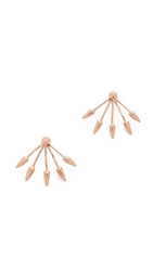 Pamela Love Five Spike Earrings Rose Gold